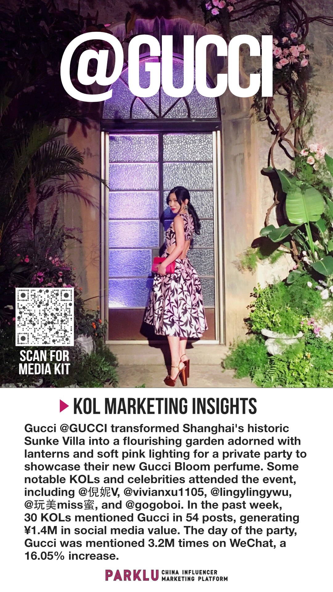 Gucci Bloom Showcase Party with KOLs in Shanghai