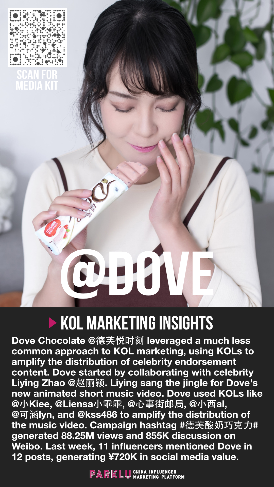 Dove Chocolate Celebrity Content & KOL Amplification in China