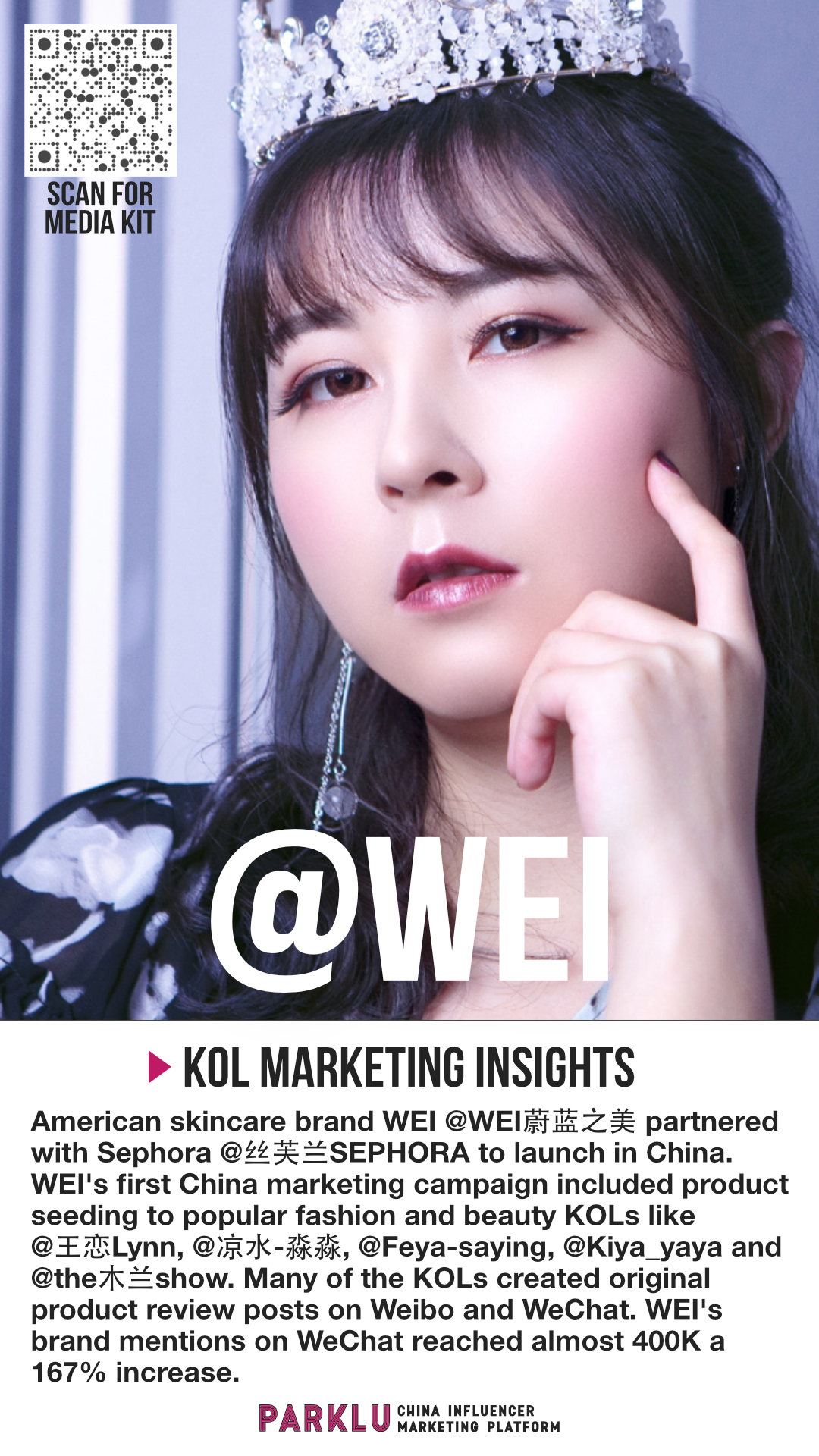 WEI Partners with Sephora & KOLs For Launch China