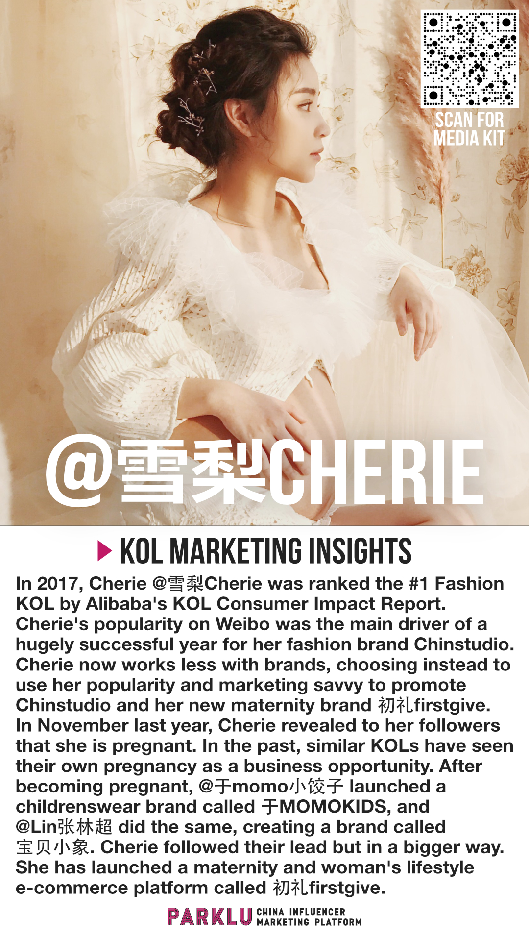 China's #1 Mommy KOL Launches a Maternity Brand