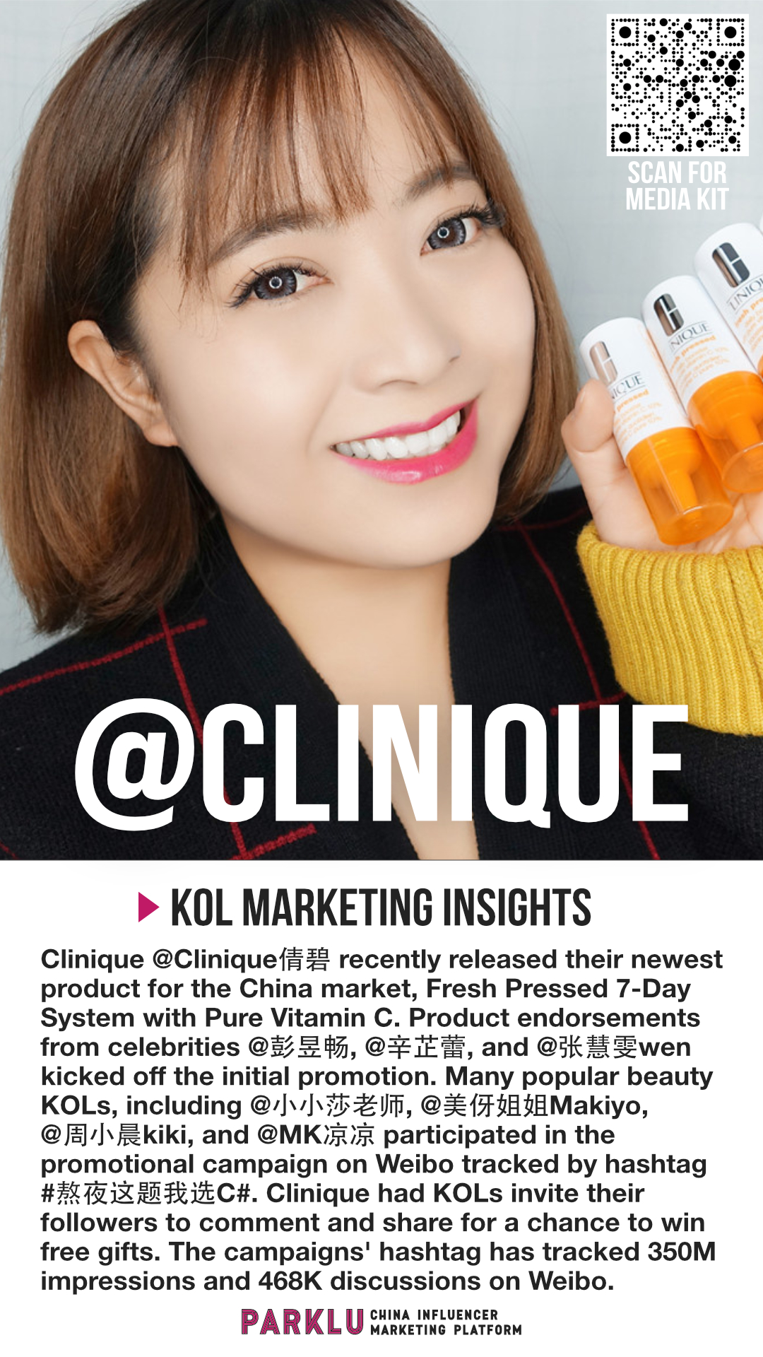 Clinique Uses Beauty Influencers for Fresh Pressed System