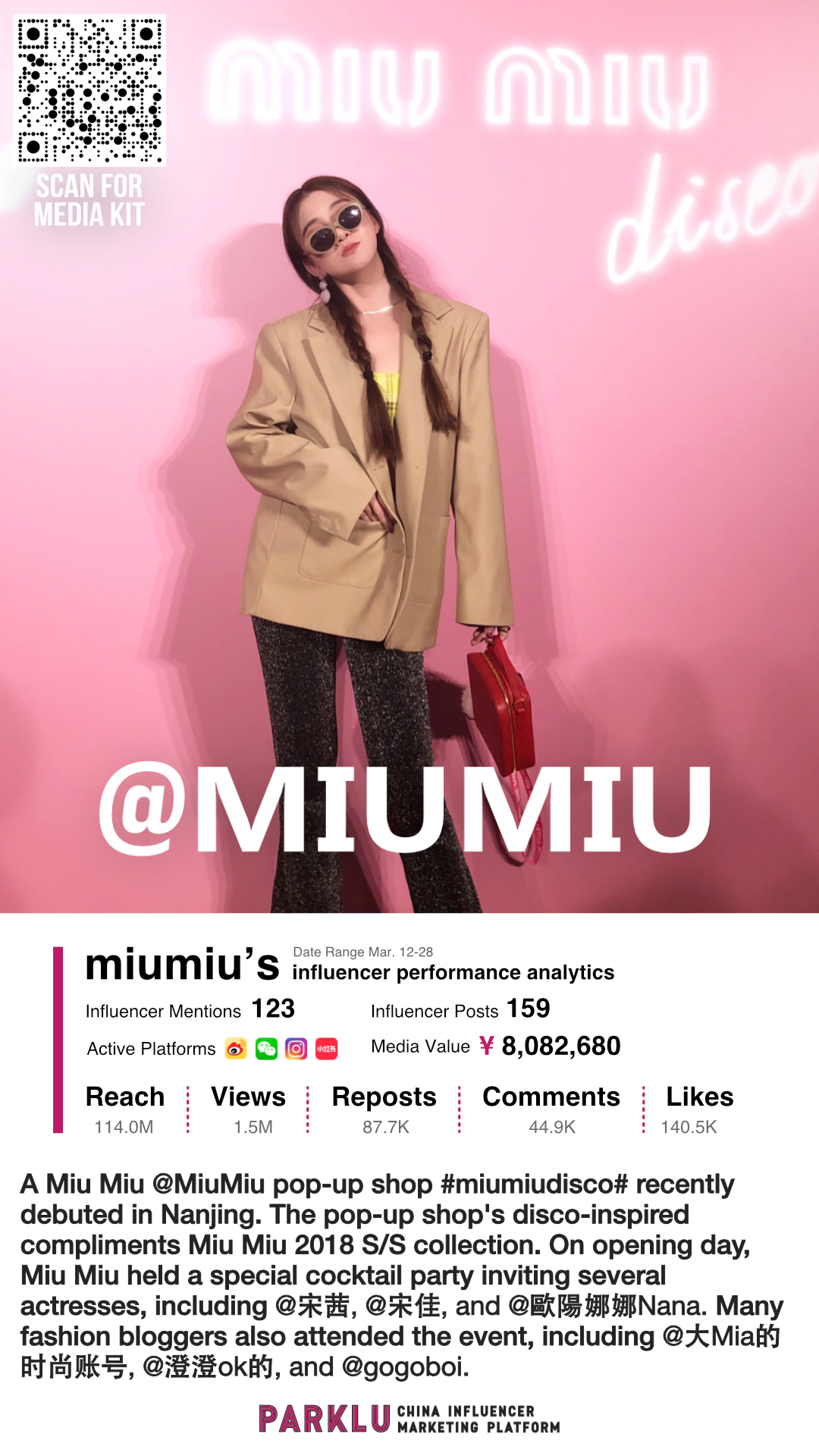MiuMiu Pop-up Shop in Nanjing with Actresses & Influencers