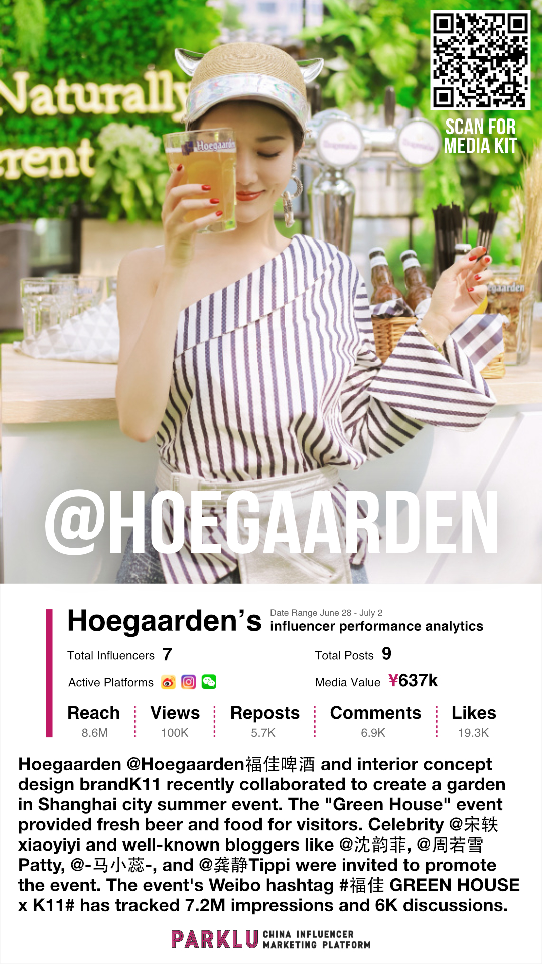 Hoegaarden & K11 Create a Garden in Shanghai for KOLs