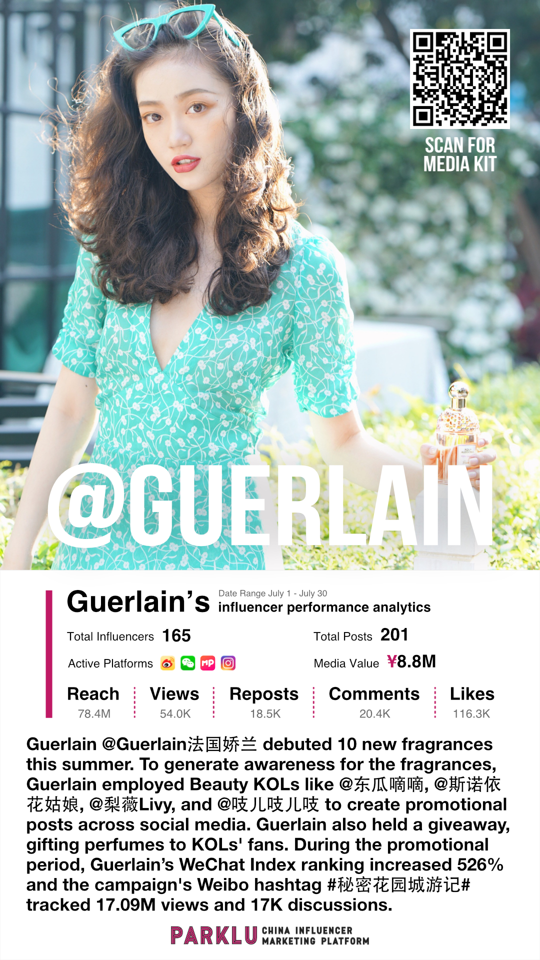 Guerlain Employed Beauty KOLs to Promote Across Social Media