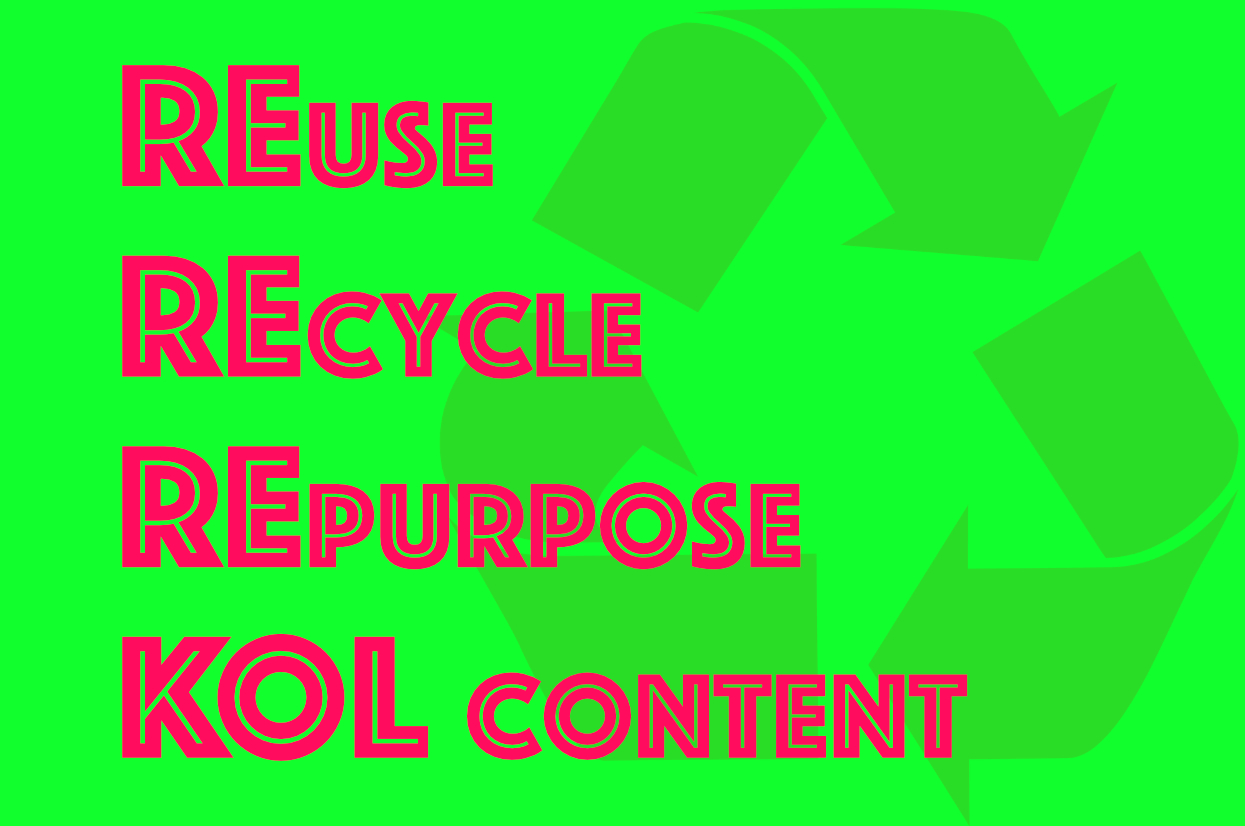 How & Why to Repurpose KOL Content in China