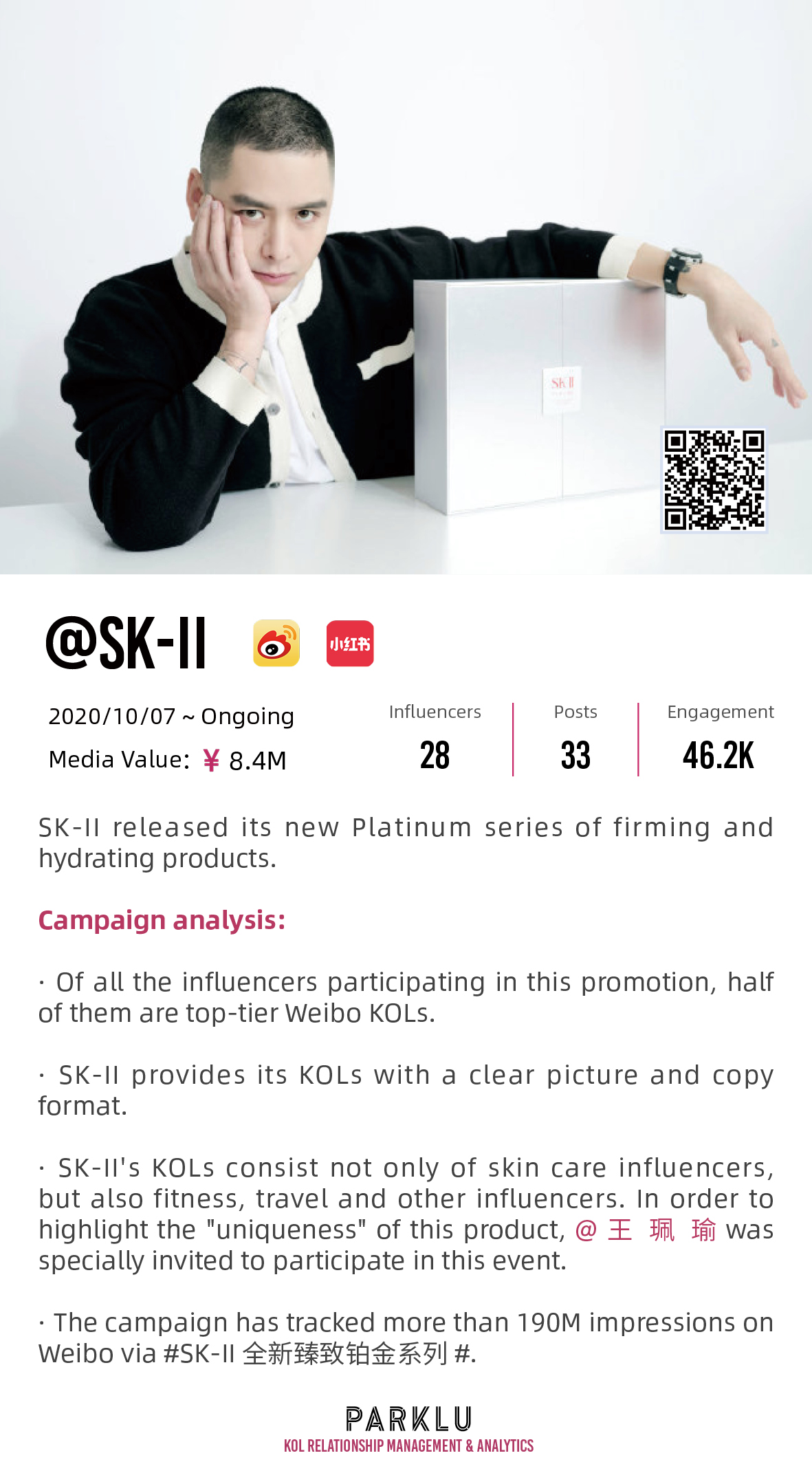 SK-II released its new Platinum series of firming and hydrating products