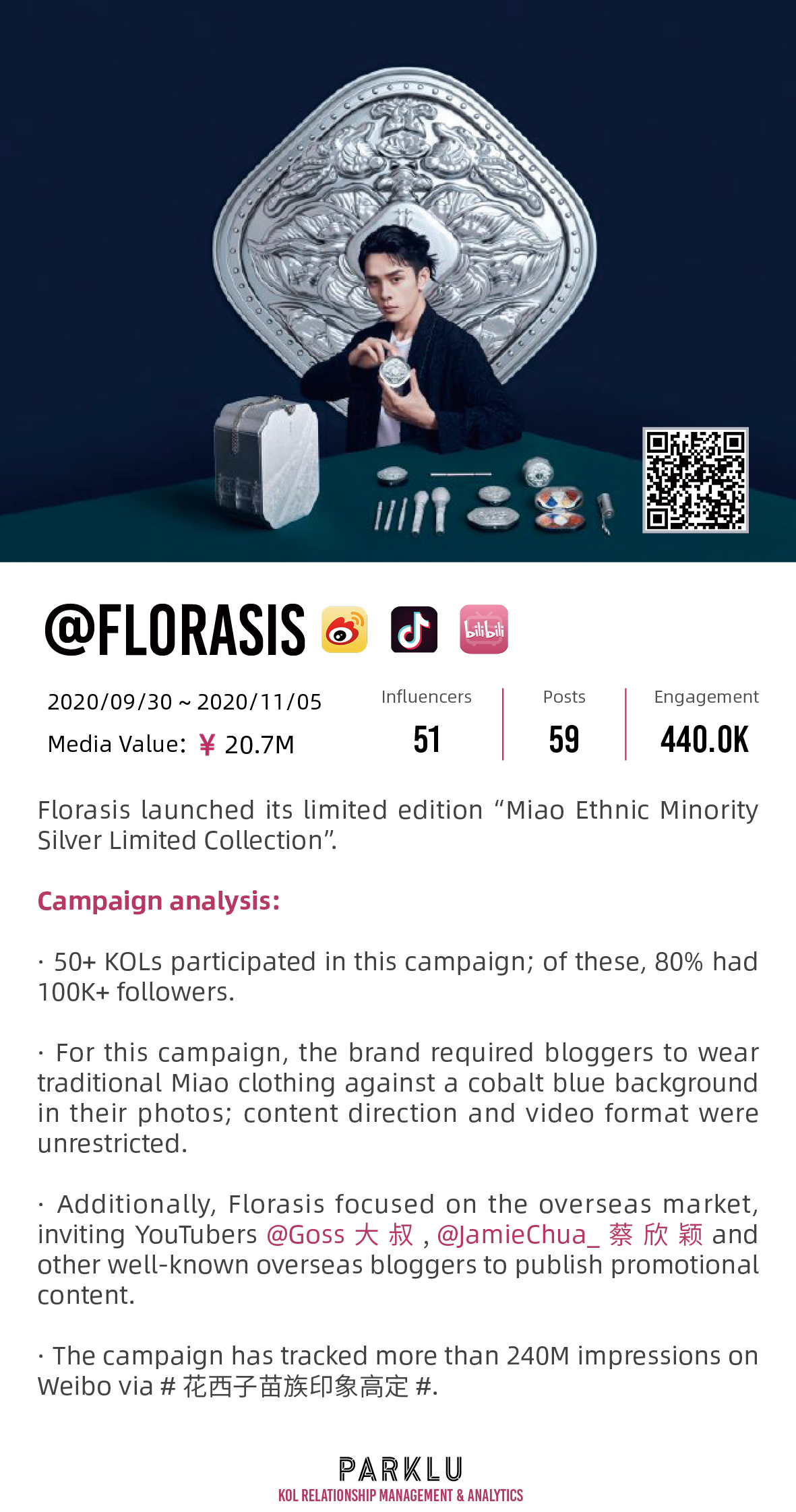 "Florasis limited edition ""Miao Ethnic Minority Silver Limited Collection"""