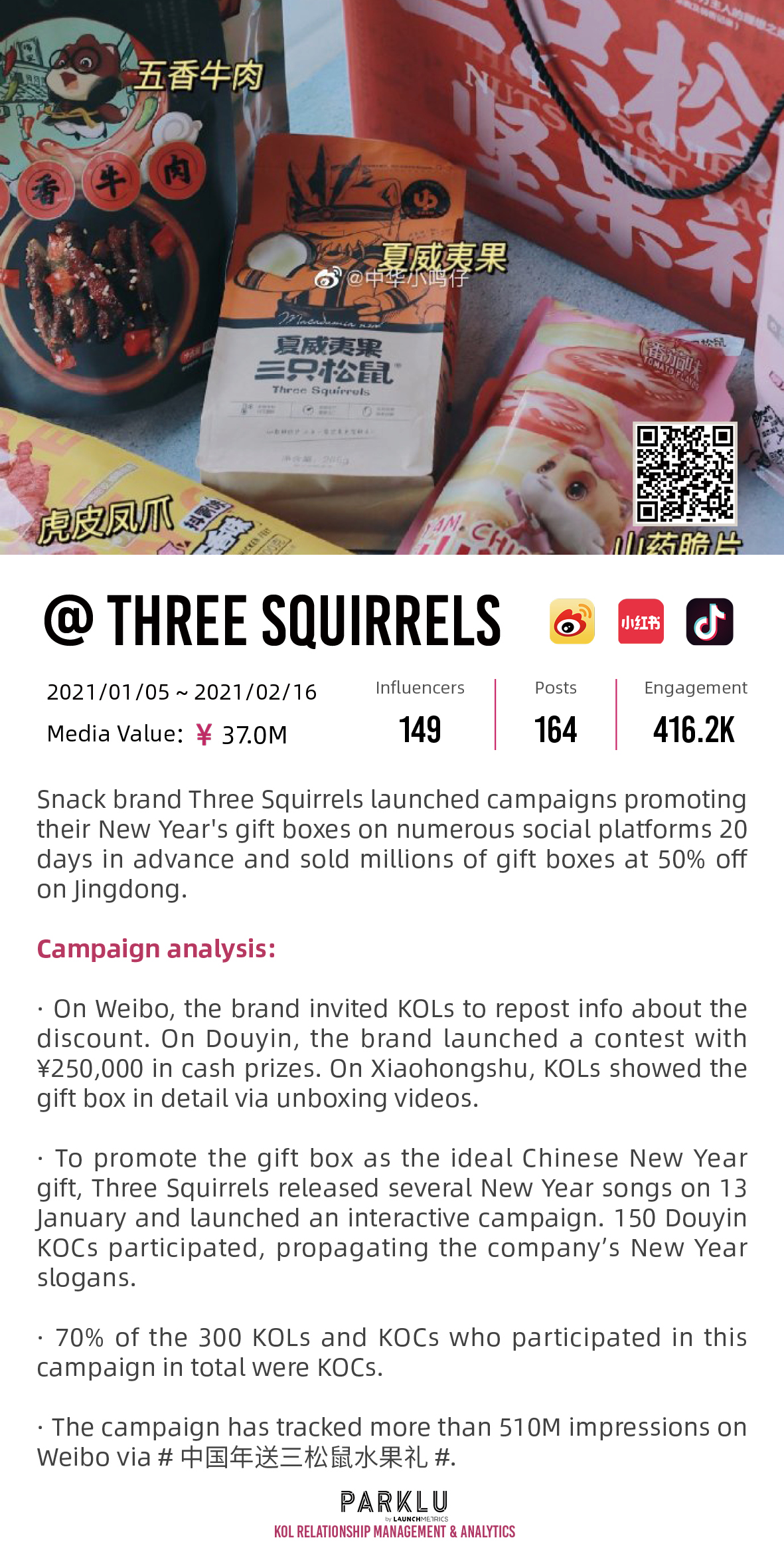Three Squirrels New Year's Gift Boxes